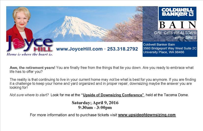 Joyce Hill Downsizing Conference Postcard