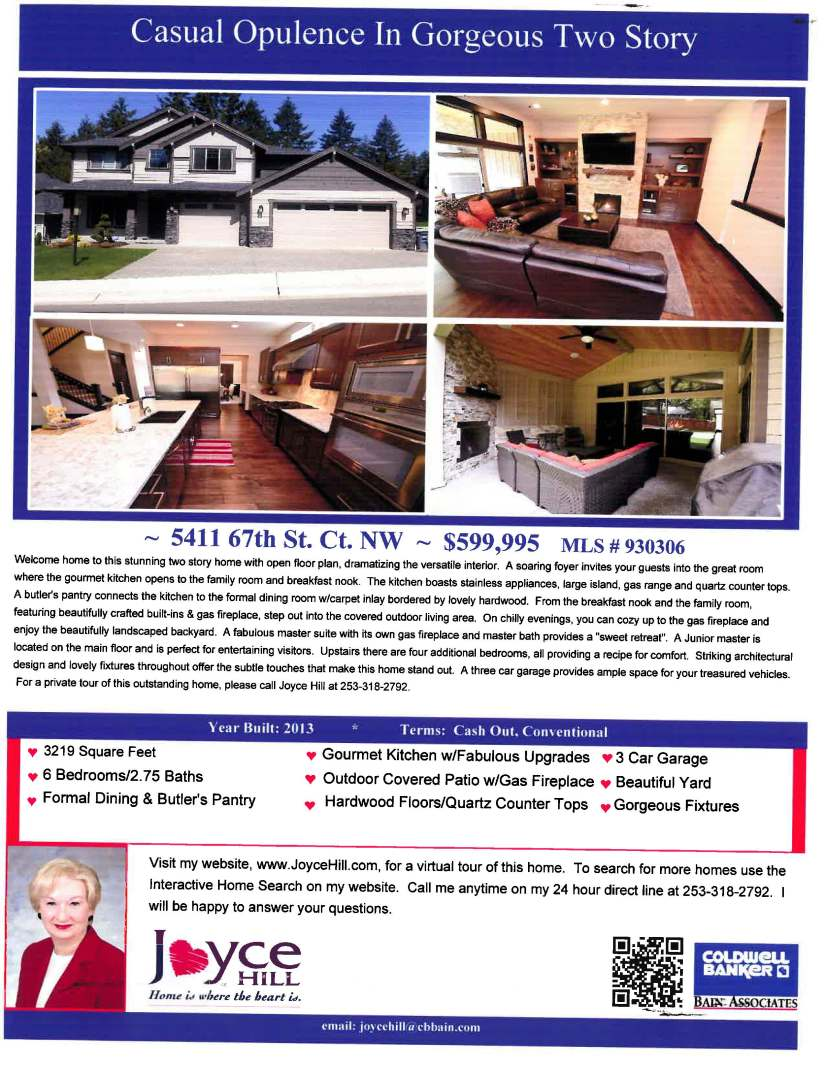 5411 67th St Ct NW Gig Harbor